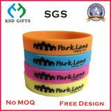 La vendita calda ha stampato il vostro braccialetto del silicone di colore giallo di promozione di marchio