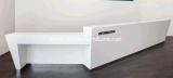 Офиса стационара ледника стол приема белого твердого поверхностного круглый