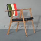 Presidenza di legno moderna della mobilia del ristorante con colore triplice ed il bracciolo (SP-EC650)