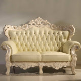 Sofà di cuoio per la mobilia del salone/sofà di legno (D512A)