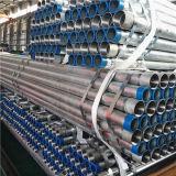 Tubo de acero galvanizado sumergido caliente de BS1387 ASTM A53 con los casquillos del extremo roscado y del plástico