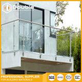 Pasamano de cristal del balaustre de la barandilla del acero inoxidable para el balcón/las escaleras