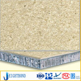 Leichtes Sandstein-Furnier-Blattaluminiumbienenwabe-Panel für Wand-Dekoration