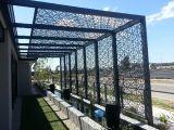 装飾的なアルミニウムレーザーによって切られる屋外のプライバシースクリーンの外壁のパネル