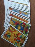 Cartes de jeu de Tarot avec le modèle de propriétaire