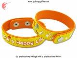 Braccialetto personalizzato del silicone per i regali di promozione (YH-PB003)