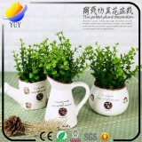 Vorzügliche simulierte Pflanze mit Blumen-Vase für Dekoration