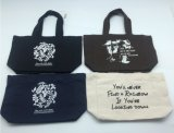 Ecoの昇進のための友好的で黒いキャンバスのハンドバッグ