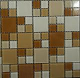 Azulejo de cristal decorativo de la pared del mosaico del cuarto de baño del arte del material de construcción