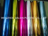 Película de PVC metalizada rígida / hoja de ambos lados Color azul para decoraciones de guirnalda