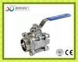 3PC robinet à tournant sphérique fileté par femelle de métèque de l'usine Ss304 3000
