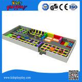 Подгонянный Trampoline крупноразмерных игр спортов коммерчески крытый совместил с спортивной площадкой малышей крытый