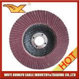 4.5 '' disques abrasifs d'aileron d'oxyde d'aluminium (couverture 24*15mm de fibre de verre)