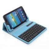 최상 보편적인 정제 Samsung 은하 탭 2 탭 3을%s Bluetooth 이동할 수 있는 분리가능한 무선 키보드를 가진 접히는 가죽 상자 덮개