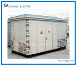 変圧器が付いているプレハブの屋外の電力配分のサブステーション