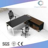 Projekt-Entwurf L Form-hoher Glanz-Melamin-Möbel-Büro-Tisch