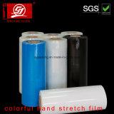 Película colorida resistente do envoltório da película de estiramento da mão do rasgo 5000m LLDPE