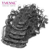 Clip reale superiore dei capelli umani di 100% nelle estensioni dei capelli