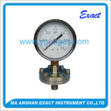 Calibre de pressão do selo do diafragma do aço inoxidável com flange