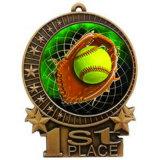 Medaglia stampata di softball del mestiere del metallo per la promozione