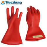 Gants isolants en caoutchouc électrique de latex de la classe 0 d'usine de la Chine