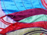 Queimar Velevt de seda Hand-Painted impresso Dishcarge