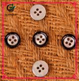 Botão preto da resina Botão redondo do botão da camisa da criança