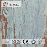 Pavimentazione di legno a prova di fuoco della plancia del vinile della serratura di scatto di sguardo del Brown