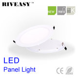 9W luz redonda de la luz del panel del acrílico LED LED con la luz del panel aislada Ce del programa piloto SMD LED