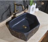Bassin en pierre normal hexagonal de salle de bains