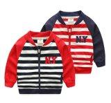 Застежка-молния способа мальчиков нашивки одежд детей Outwear куртка