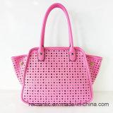 China Supplier Lady PU Laser Handbags com saco Set (NMDK-051001)