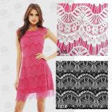 衣服のアクセサリの熱い販売のナイロンかぎ針編みのレースファブリック