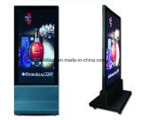 Floor Stand LED Light Box com rodas para propaganda comercial
