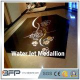 Medallón Polished de mármol del diseño del jet de agua para el hotel y el chalet