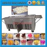高性能平らな鍋のタイによって揚げられているアイスクリーム機械