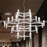 Moderne LED-kreative Funktionseigenschaft-Krone 12 Glas-hängende Lampen