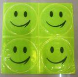 1 het blad (4 PCs), het Weerspiegelende Gezicht van de Glimlach van de Sticker Kleine voor Motorfiets, Fiets, stuk speelgoed om het even welk waar voor Zichtbare Veiligheid