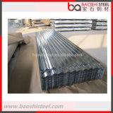 Azulejo de azotea de acero prepintado acanalado de acero de Baoshi