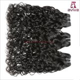 La armadura india del pelo humano del pelo el 100% de la onda de agua lía negro natural de la extensión del pelo de Remy de 1 pedazo no