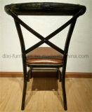 Französische Art-stapelbarer Kreuz-Rückseiten-Hochzeits-Bankett-Stuhl