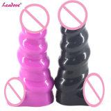 Leadove@1PCS/Lot het Nieuwe Model Waterdichte Zachte Silicone Realistische Dildo van het Ontwerp met Product van het Geslacht van het Stuk speelgoed van het Geslacht van het Condoom het Volwassen voor de Liefde van Vrouwen