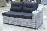 Установленная софа ротанга сада напольного патио софы Loungest таблицы Polywood Wicker (J610-POL)