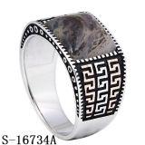 925 zilveren Nice modelleert de Ring van de Mens met Natuurlijke Steen
