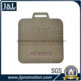 La modifica in lega di zinco del sacchetto di golf della pressofusione con il testo dell'incisione del laser