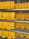 Caricamenti del sistema gialli del PVC Wellington con i caricamenti del sistema di pioggia d'acciaio di sicurezza della punta