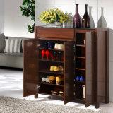 Gabinete de madeira do Wardrobe da melamina da madeira compensada do MDF do estilo moderno (UL-WR011)