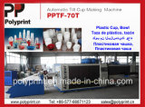 Máquina plástica de Thermoforming do copo de Pet/PS/PP (PPTF-70T)