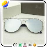 Macho novo e óculos de sol de vidro de dobramento personalizados fêmea da lente da definição elevada dos vidros