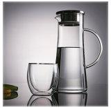 Pichet/carafe de l'eau de grande capacité avec le couvercle et le traitement en acier de Stailess